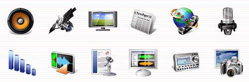 Multimedia Icons Vista