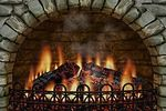 3D Realistic Fireplace Screen Saver-Feu de cheminée
