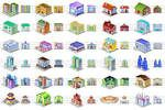 Desktop Building Icons