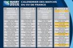 Calendrier du XV de France pour la coupe du monde 2015