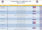 Calendrier de diffusion de l'Euro 2016 en téléchargement