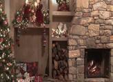 Fond d'écran animé feu de cheminée Noël en téléchargement