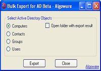 Algoware Active Directory Bulk Export