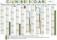 Calendrier Scolaire 2015 - 2016 avec zones