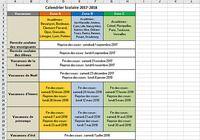 Calendrier Vacances Scolaires 2017-2018