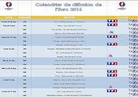 Calendrier de diffusion de l'Euro 2016