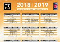 Calendrier Top 14 2018-2019