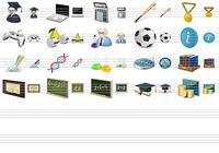 Desktop Education Icons