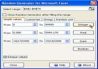 Random Generator for Microsoft Excel