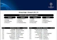 Calendrier Officiel de la Ligue des Champions 2018 2019