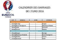 Calendrier des barrages de l'Euro 2016