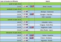 Diffusion de la coupe du Monde 2014