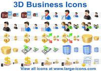 3D Business Icons