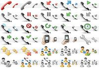 Standard Telephone Icons