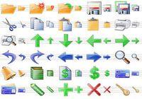 Plastic Toolbar Icons