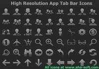 High Resolution App Tab Bar Icons