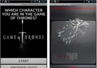 Who are you in Game of Thrones Android