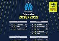 Calendrier OM Ligue 1 2018-2019