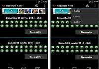 Résultats Keno Android