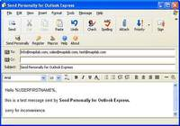 Send Personally for Outlook Express
