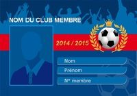 Carte de membre de club de Football