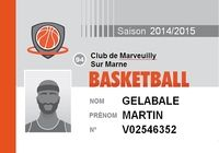 Carte de membre Basket