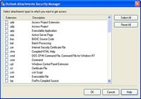 Outlook Attachments Security Manager