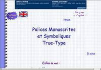 17 Polices Manuscrites True-Type