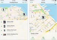 Localiser mon iPhone iOS