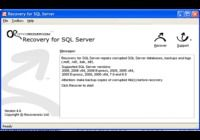 Recovery for SQL Server