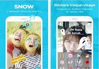 Snow - Selfie, Sticker animé android