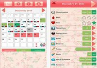 Calendrier d'ovulation et règles Ladytimer iOS