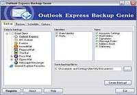 Outlook Express Backup Genie