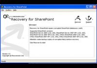 Recovery for SharePoint