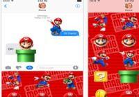 Super Mario Run Stickers iOS