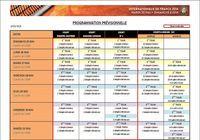 Programme Roland-Garros 2014