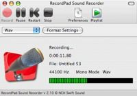 RecordPad Sound Recorder for Mac