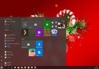 Thème Windows 10 Sapins de Noël