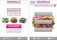 Aquarelle livraison de fleurs iOS