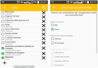 Bagage - Liste d'emballage Android