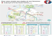 EURO 2016 - Fanzones et plan du Métro Parisien
