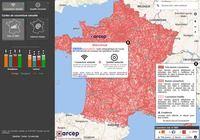 Carte de la couverture des réseaux mobiles