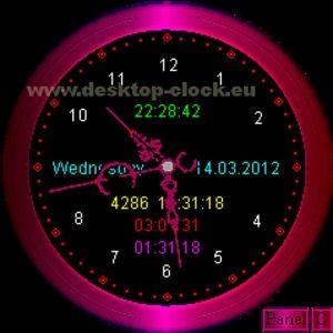 T l charger desktop clock 2 8 2 8 pour windows shareware - Horloge bureau windows 8 ...