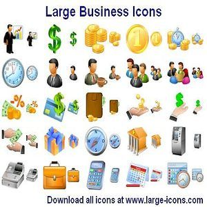 T l charger large business icons pour windows shareware - Telecharger icone bureau windows 7 ...