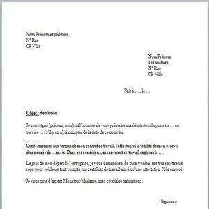 lettre de demission a imprimer Télécharger Modèle de lettre de démission pour windows | Freeware lettre de demission a imprimer