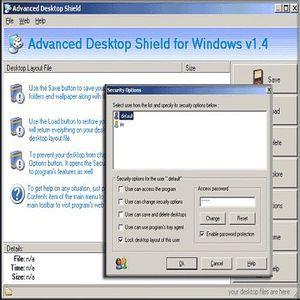t l charger advanced desktop shield pour windows shareware. Black Bedroom Furniture Sets. Home Design Ideas