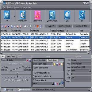 EZ CD Audio Converter is CD Ripper, Audio Converter, Metadata Editor and  Disc Burner. Rip audio CDs, make copies of discs, convert mp3, convert audioOperation Systems: – Windows 10, Windows 8, Windows 7, Windows Vista, and  Windows XP.