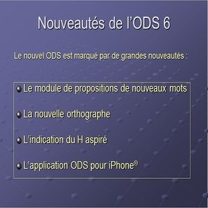 dictionnaire ods 2012