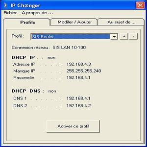 T 233 L 233 Charger Ip Changer Pour Windows Freeware