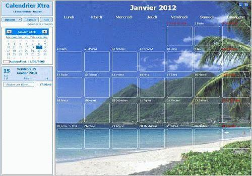 Calendrier Xtra 2012